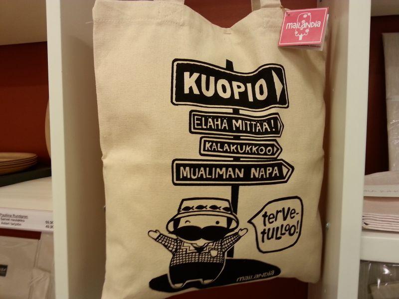Taito Kuopiosta saa muun muassa kuopiolaisen Mailandian tuotteita.