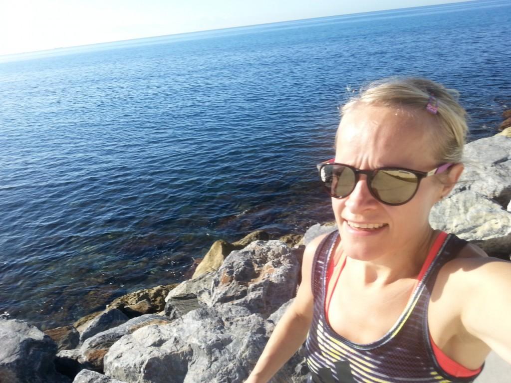 Syyslomalla Espanjan lämmössä en malttanut jättää juoksulenkkejä väliin.
