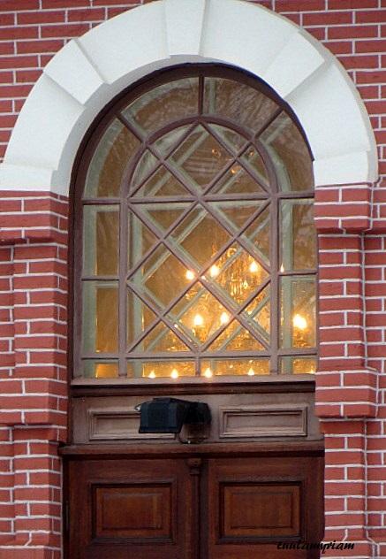 Kuopion ortodoksien kirkon ikkuna
