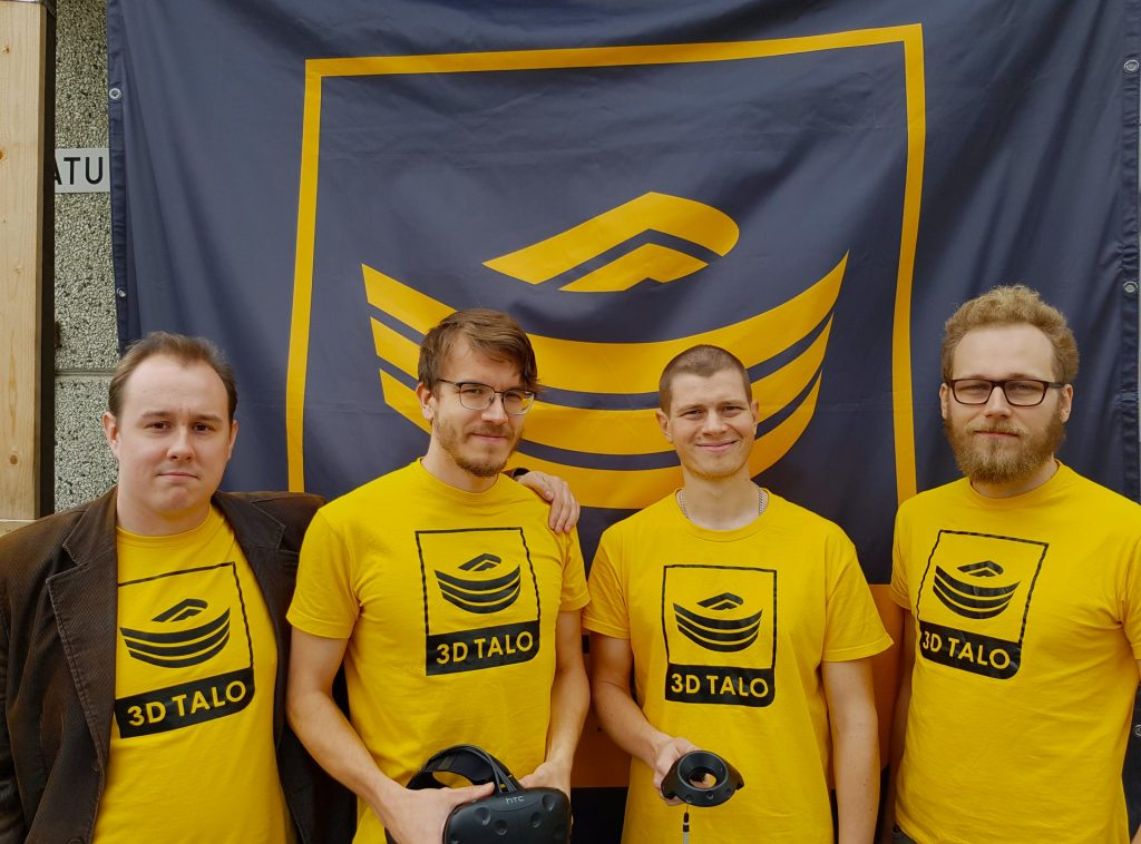 3D-talon yrittäjät: Teemu Wilander, Matti-Juhani Pekkanen, Sandor Nagy ja Pauli Rissanen. Kuva:  Heikki Parviainen.