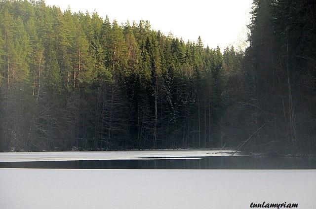 Vuorilampi on  kirkasvetinen ja kasvillisuudeltaan vaatimaton lampi, lähes yhdeksän metriä syvä. Maisemat ovat jylhät, pientä, usein tyyntä lampea vartioivat mahtipontiset vaaran rinteet.