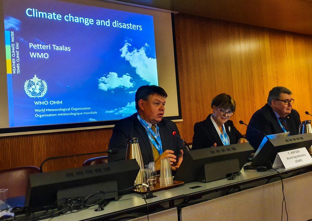 Tilannekuvan luontia ilmastoturvallisuuden työpajassa YK-tapahtumassa